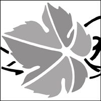 The Vine Leaves stencil - price Butterfly Songs, Leaf Stencil, Vine Leaves, Vines, Thanksgiving, Fall, Expressionism, Silhouettes, Flowers