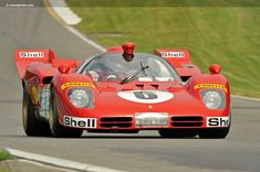 Photographs of the 1970 Ferrari 512 S. Chassis number Legends of Motorsports at Watkins Glen International. An image gallery of the 1970 Ferrar. Sports Car Racing, Sport Cars, Auto Racing, Motor Sport, Ferrari Racing, Ferrari F1, Le Mans, Vintage Race Car, Vintage Auto
