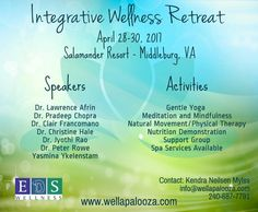 Registration is open! Wellapalooza 2017 Retreat Schedule and Information - Early registration ends January 15th, 2017! Join us for is for this retreat!
