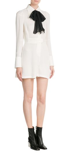 a19f79d0fca This white Maison Margiela jumpsuit is fitted and formal with a  contemporary twist - note the