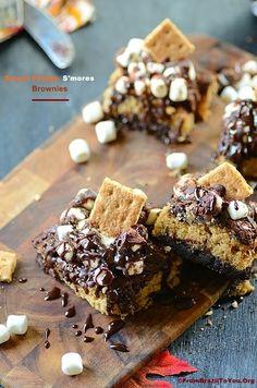 #RECIPE - Sweet Potato-Smores Brownies
