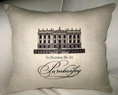 Love Downton Abbey  Pemberley Jane Austen by frenchcountrydesigns, $18.99