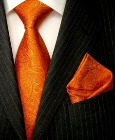 LORENZO CANA Luxury Italian Pure Silk Woven Tie/Hanky Set