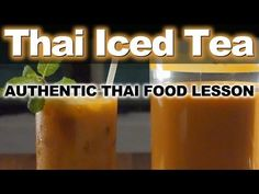 Known as Cha Yen in Thai, which means simply 'Cold Tea', this delicious bright orange iced tea is one of our most popular drinks. Milk Tea Recipes, Iced Tea Recipes, Thai Recipes, Thai Iced Tea Recipe Authentic, Authentic Thai Food, Thailand Recipes, Thai Milk Tea, Iced Tea Pitcher, Best Thai Food