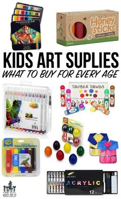 A complete list of kids art supplies and the best gift ideas for young artists