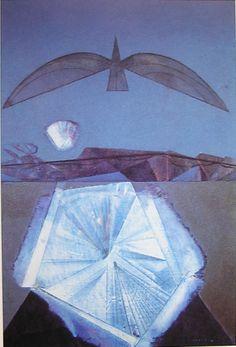 Max Ernst - Après moi le sommeil (Hommage à Paul Eluard), 1958