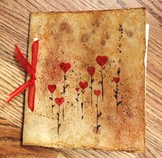 Handmade Journal Rustic Antiqued Paper Diary by watercolorsRfun, $12.50