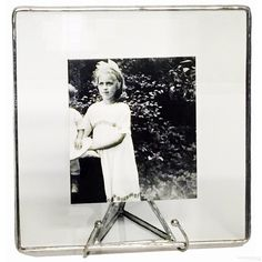 The Original Bedford Downing® Clear Glass Float Frame 4x4/5x5 Silver picture frames photo albums and gifts