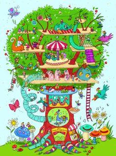 The tree house, a Joelle Dreidemy Print