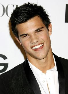 Taylor Lautner...young and sexy how could Bella pass this up for ole pale face?
