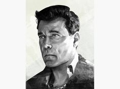 HelloVon Studio www.hellovon.com, leading portrait illustrator. Ray Liotta for Maxim. Contemporary illustration, power, actor modern, motion, movement, brush, colour, painting, ink, watercolour, celebrity, icon, hero, iconic.