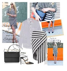Stripes by sarapires on Polyvore featuring Equipment, Mason by Michelle Mason, Gianvito Rossi, M2Malletier and Chanel