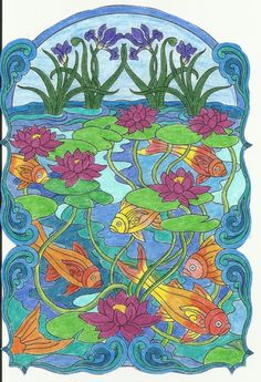 Levona Morris 18 Division From Creative Haven Art Nouveau Animal Designs Coloring Book