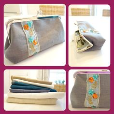 This grey linen beaded trim handbag is elegant and sophisticated. Perfect for an evening out or as a gift for a friend or loved one, this clutch will be the most unique fashion accessory you own. Unique Fashion, Womens Fashion, Simple Elegance, Elegant, Floral Ribbon, Coin Purse, Clutch Purse, Beaded Trim, Fashion Accessories
