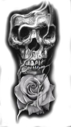 Tatuagem caveira Hair Style Image style and image hair products Evil Skull Tattoo, Skull Rose Tattoos, Skull Sleeve Tattoos, Tattoo Sleeve Designs, Black Tattoos, Body Art Tattoos, Tribal Tattoos, Sketch Tattoo Design, Skull Tattoo Design