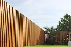 Wood fence for open terrace