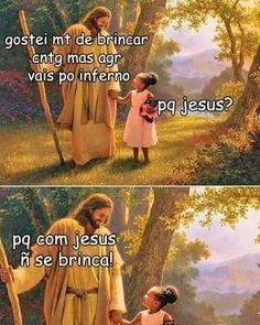 Q errado man kkk Jesus Meme, Jesus Funny, Dark Jokes, Just Smile, Atheism, Destiel, Best Memes, Funny Images, Anime