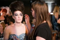 Behind the Scenes at Knoxville Fashion Week sponsored by Gage Models & Talent Agency and photograph by Corey Watson.  Hair and Makeup Salon Visage