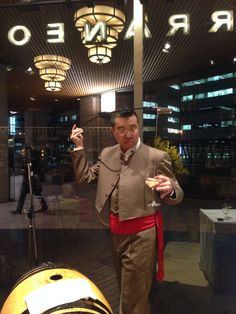Noh and Sherry Party by Mr. Kohya Nakase 20 March 2014