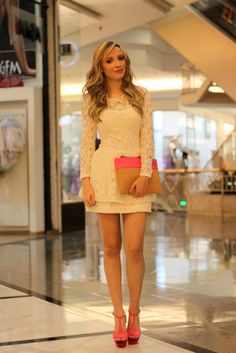 Taciele Alcolea Night Outfits, Dress Outfits, Fashion Dresses, Casual Chique, Casual Looks, Cute Dresses, Nike Sportswear, Ideias Fashion, Girly