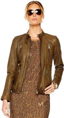 ShopStyle: MICHAEL Michael Kors Zip Motorcycle Jacket