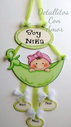 Para la llegada del bebéツ Foam Crafts, Baby Crafts, Diy And Crafts, Paper Crafts, Baby Door Hangers, Baby Shawer, Ideas Para Fiestas, Paper Piecing, Baby Room