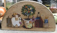 Country Topiary Terrye French pattern di PaintingWithFriends, $5.00
