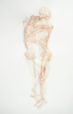 Mexican artist Fernanda Uribe created this series of beautifully delicate anatomical paintings titled Abrazos/Dasein.