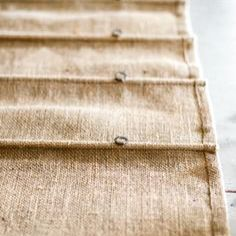 """So I'm using a similar looking Hessian to make Roman Blinds for a big Victorian bay window. Here's my tips if your considering using hessian for your hand made creations. - for the ultimate BoHo look use a raw wide weft hessian as it will give you a much earthier look than a close weft - hessian isn't just for hippies ! As long as you use a close weft hessian and back it with a lining to make it less see through then even design snobs can include this """"cheap"""" fabric in their collection"""