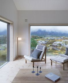 Vega Cottage is a private residence in Norway designed by Swedish-based Kolman Boye Architects