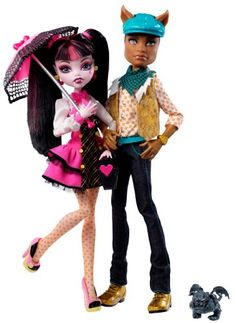 Monster High Draculaura And Clawd Wolf Doll Giftset http://www.amazon.com/Monster-High-Draculaura-Clawd-Giftset/dp/B004XPAEH2/