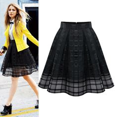 New Fashion Women Elastic High Waist Solid Zipper Chiffon Slim Skirt OL Ladies Organza Pleated Skirt -in Skirts from Women's Clothing & Accessories on Aliexpress.com | Alibaba Group