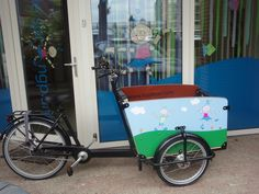 De eerste bakfiets voor KDV en BSO De Springplank... Arduino Controller, Velo Cargo, Electric Box, Car Starter, Diy Robot, Bicycle Design, Bicycles, Baby Strollers, Fans