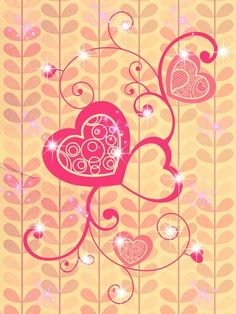 A pink wallpaper... Perfect for a typical girl! :)