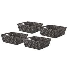 These Whitmor Split Rattique Storage Tote offer a stylish way to organize almost any space in your home or office. These Tote look like split rattan, but are made of a durable easy to clean woven plastic. Pretty Storage Boxes, Fabric Storage Boxes, Fabric Bins, Tote Storage, Buy Fabric, Storage Containers, Seagrass Storage Baskets, Plastic Baskets, Michael Store