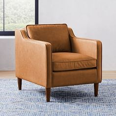 Hamilton Leather Chair #westelm