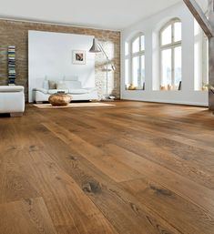 Haro parquet amber oak Sauvage, oak, wooden f Wide Plank Flooring, Timber Flooring, Laminate Flooring, Hardwood Floors, Parquet Haro, Wood Parquet, Wooden Floors Living Room, Floor Colors, French Oak