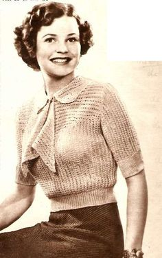 1930s Knitting Patterns : DESIGN Pattern on Pinterest Vintage Knitting, 1930s and 1940s