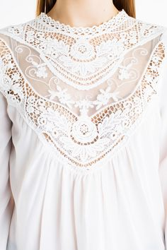 Perfect gift for boho lovers. Romantic Combined lace top – a unique product by KXK_London via en.DaWanda.com