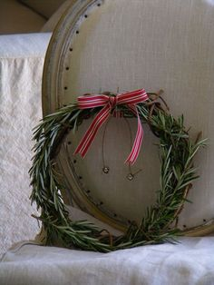 Fresh and delicate rosemary wreath