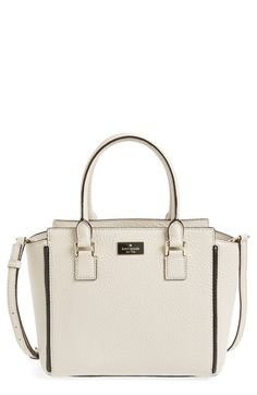Free shipping and returns on kate spade new york 'prospect place - small hayden' leather satchel at Nordstrom.com. Contrast piping frames the rich, pebbled leather of a neat, structured satchel topped with rolled handles and an optional, adjustable crossbody strap. Gleaming goldtone hardware and a discreet, enameled logo plate add polish to the look.