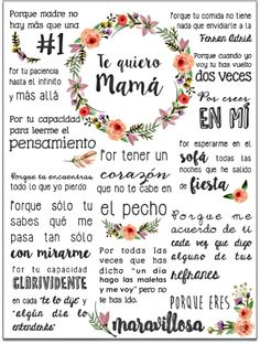 feliz dia de la madre - Zinc Tutorial and Ideas Gifts For Mom, Diy Gifts, Mom Day, Ideas Para Fiestas, Mom Birthday, Mother And Father, Happy Mothers Day, Happy Mom, Diy And Crafts