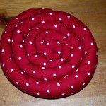 Scented hot pad.  Filled with rice.  I wish I could sew.  I guess I could always use sewing glue.  Cute idea.
