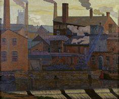 River Aire, Leeds by Charles Ginner 1914 Cool Landscapes, Landscape Paintings, Landscape Art, Illustrations, Illustration Art, Industrial Paintings, Art Articles, Impressionist Artists, Post Impressionism