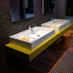New #bathroom collection MIa #washbasin. The top is a beautifull flou #yellow ;)