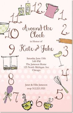 Clock Bridal Shower Invitations Tick Tock Black httpwww