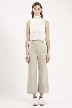 Natalie Cropped Cashmere Blend Polo Top by Unique - Unique Pre-Fall - Unique - Clothing- Topshop