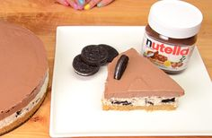 Tee+se+itse:+taivaallinen+Nutella-Oreojuustokakku,+jota+ei+tarvitse+paistaa