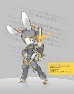 SYNC: Amber the Robot Rabbit by TysonTan on deviantART