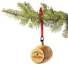 Hang this personalized holiday ornament from your tree this year! Laser etched with your family name on the front and year on the back of the barrel.